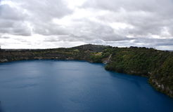 The incredible Blue Lake at Mt Gambier Royalty Free Stock Photo