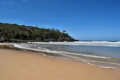 The incredible blue water of Noosa National Park royalty free stock image