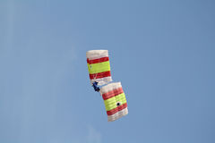 Incredible and brave paratroopers. Royalty Free Stock Photography