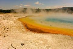 The incredible caldera at yellowstone park Royalty Free Stock Photography