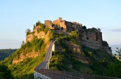 Incredible Civita Di Bagnoregio, Italië Stock Fotografie