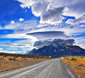 Incredible clouds over the mountain Royalty Free Stock Photos