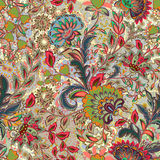 Incredible color flower pattern. Multicolored bright floral background. Vintage seamless pattern in provence style. Incredible flower pattern. Multicolored Stock Image