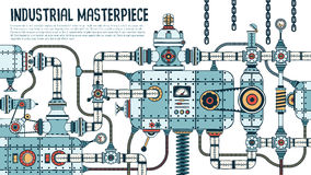 Incredible Complex Industrial Machine Stock Image