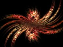 Incredible explosion - 3D abstract. Abstract fractal background. Computer generated graphics. Floral explosion 3D Stock Photography