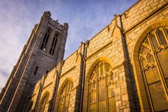 Incredible exterior  architecture at a church in Hanover, Pennsy Royalty Free Stock Photography
