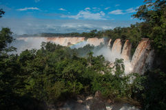 Incredible and gorgeous waterfalls of Iguazu, Argentina Royalty Free Stock Photography