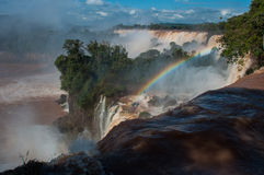 Incredible and gorgeous waterfalls of Iguazu, Argentina Stock Photos