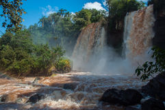 Incredible and gorgeous waterfalls of Iguazu, Argentina Stock Image
