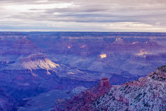 Incredible Grand Canyon Sight in the Very Early Morning Royalty Free Stock Image