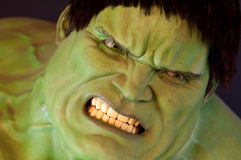 Incredible HULK. Wax figure at Madame Tussauds in New York Royalty Free Stock Image