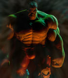 The Incredible Hulk. Incredible Hulk toy shot with dramatic lighting royalty free stock images