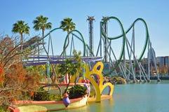 Incredible Hulk in Universal Orlando, FL, USA. Incredible Hulk roller coaster in Islands of Adventure of Universal Orlando, Florida, USA royalty free stock photography