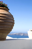 Incredible imerovigli santorini sea view Stock Image