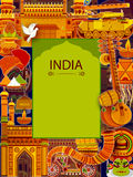 Incredible India background depicting Indian colorful culture and religion Stock Photo