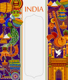 Incredible India background depicting Indian colorful culture and religion Stock Photography