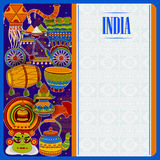 Incredible India background depicting Indian colorful culture and religion. In vector Stock Images