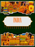Incredible India background depicting Indian colorful culture and religion. In vector Royalty Free Stock Photography