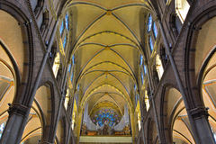 Incredible interior of a Medieval christian church Stock Images