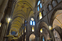Incredible interior of a Medieval christian church Royalty Free Stock Photos