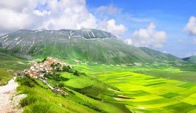 Incredible Italy series - nature landscapes - Castelluccio di Norcia Stock Photo