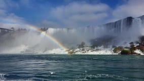 Waterfalls Rainbow Landscapes Niagara Falls , Toronto. Incredible Landscapes of the natural Niagara Falls with a rainbow Stock Images