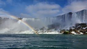 Waterfalls Rainbow Landscapes Niagara Falls , Toronto. Incredible Landscapes of the natural Niagara Falls with a rainbow Stock Photos