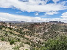 The incredible landscapes surrounding the jalq a communities in. Bolivia can be visited Royalty Free Stock Images