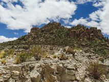 The incredible landscapes surrounding the jalq a communities in. Bolivia can be visited Royalty Free Stock Photos