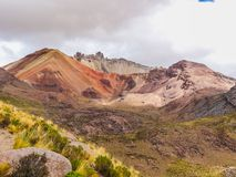 The incredible landscapes surrounding the jalq a communities in. Bolivia can be visited Stock Images