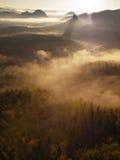 Incredible misty autumn landscape. Stock Photo
