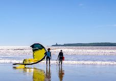 Incredible Morocco, amazing Essaouira, a wonderful beach royalty free stock images