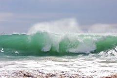 Incredible oceanic wave. At the atlantic ocean in Portugal Stock Image