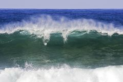Incredible oceanic wave. Incredible big oceanic wave at the atlantic Stock Image