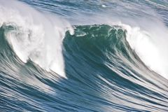 Incredible oceanic wave in Portugal. Incredible oceanic wave at the atlantic ocean in Portugal royalty free stock photo