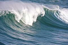 Incredible oceanic wave in Portugal Stock Photo