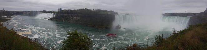 Waterfalls Panorama Landscapes Niagara Falls , Toronto. Incredible Panorama Landscapes of the natural Niagara Falls Royalty Free Stock Photo