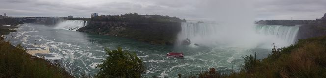 Waterfalls Panorama Landscapes Niagara Falls , Toronto Royalty Free Stock Photo