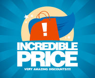 Incredible price, sale design template. Stock Images