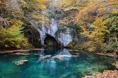Incredible Republic of Serbia. Krupajsko Vrelo, colorful springhead near city of Jagodina Stock Photos