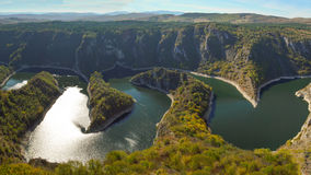 Incredible Republic of Serbia. Special Nature Reserve `Uvac` is a protected natural area of ​​great importance in Serbia Royalty Free Stock Photos