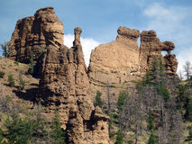 Incredible rock formations in wyoming Royalty Free Stock Photos