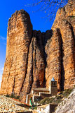 Incredible rocks -  Mallos de Riglos. (province of Huesca, Spain Stock Images