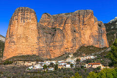Incredible rocks -  Mallos de Riglos. (province of Huesca, Spain Royalty Free Stock Photo