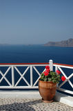 Incredible santorini island view greece Royalty Free Stock Image