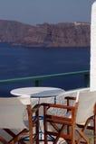 Incredible santorini view stock photos