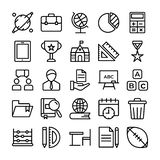 Science and Education Line Vectors Pack royalty free illustration