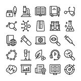 Science and Education Line Icons Set vector illustration