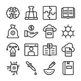 Set of Science and Education Line Icons stock illustration