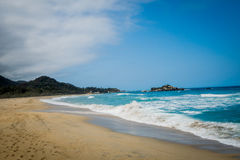 Incredible sea landscape in Tayrona National Park Royalty Free Stock Images